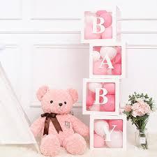 <b>QIFU Alphabet Transparent Packing</b> Box Wedding Balloon Gift Box ...