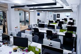 software company office. the work stations software company office f