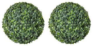VidaXL <b>Boxwood Ball Artificial Leaf</b> Topiary, 35 cm, Set of 2