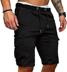 Summer <b>Men's</b> Overalls <b>Shorts</b> Loose <b>Casual</b> Lace-Up <b>Trousers</b> in ...