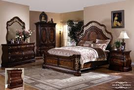 bedroom furniture sets queen interior  elegant alexandria  pc bedroom set queen bed dresser mirror and  with
