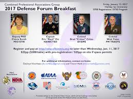 ndia central florida chapter combined professional associations group 2017 defense forum breakfast