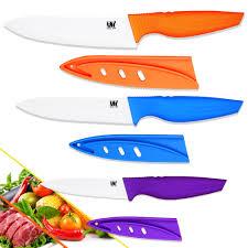 ceramic kitchen knife utility: hot sales ceramic knives purple utility blue slicing orange chef kitchen knives three piece set