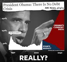 "Yesterday, President Obama Denied That Our Country Has A Debt Crisis. ""And, so, we don't have an immediate crisis in terms of debt. - no-debt-crisis"