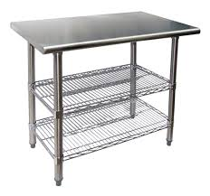 stainless kitchen work table: brilliant evoo evts quot stainless steel work table with  adjustable with regard to kitchen prep table stainless steel