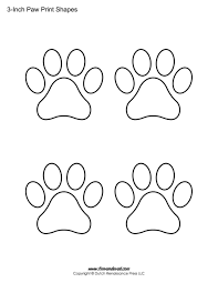 paw print template shapes blank printable shapes printable paw print stencils