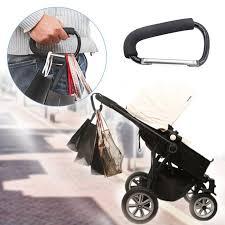 <b>Aluminium Baby Stroller Hooks</b> Button Carabiner Shopping Bags ...
