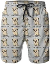 Pug What I AM Men Water Sports Beach Pants Pocket ... - Amazon.com