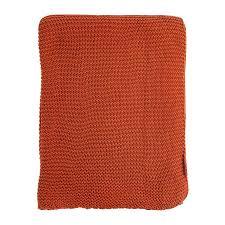<b>Плед жемчужной вязки терракотового</b> цвета essential 220х180 ...