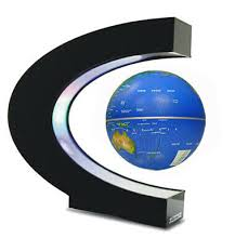 <b>C Shaped</b> Magnetic Levitation Floating Globe <b>LED</b> Color <b>Light</b> 3 ...