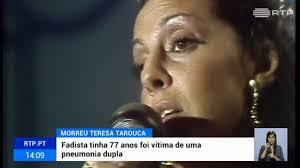 Morreu a fadista Teresa Tarouca