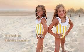 Yaffi Family Swimsuit Striped One Piece Beach Wear ... - Amazon.com