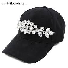 GZHilovingL Fashion Womens Spring Big Diamond Baseball Cap ...