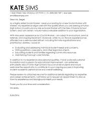 best social worker cover letter examples   livecareersocial worker cover letter examples