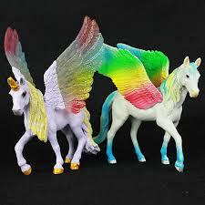 NEW Pegasus Doll Toy <b>Simulation</b> Mini <b>Animal Model</b> Unicorn ...