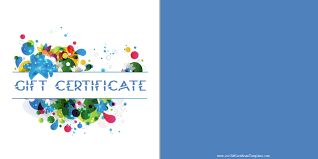 printable gift certificate templates gift certificate a blue background and colored flowers customize