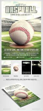 best images about design posters flyers baseball game flyer template