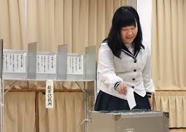 voting age the times fukuoka teens first to cast ballots in local election under new voting age