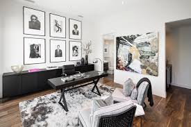 lion art home office contemporary decorating ideas with black swivel desk chair dark wood credenza black white office contemporary home office