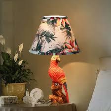 Animal Parrot <b>Table</b> Lamp For Bedroom Bedside <b>Resin Table</b> Lamp ...