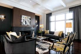 black furniture interior design photo ideas white wall trimming dark accent wall with black furniture wall color