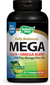 Nature's Way <b>Fully Balance</b> Mega <b>Omega</b>-<b>3-6-9</b> Blend, Lime, 90ct ...
