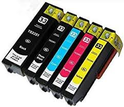 5 (FULL SET) Compatible Epson 33XL Ink Cartridges <b>for</b> Epson ...