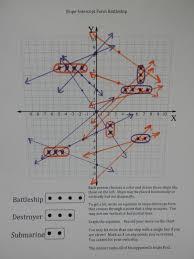 i is a number  Slope Intercept Form Battleship Game Board filled in