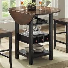 drop leaf kitchen island outstanding piece dining room coaster dinette tall kitchen table and chairs set