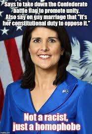 The esteemed governor of South Carolina Nikki Haley - Imgflip via Relatably.com