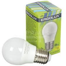 <b>Лампа светодиодная Ergolux LED</b>-G45-7W, 7 Вт, E27, теплый ...
