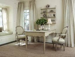 off white gives the home office a shabby chic look design warmington chic home office interior