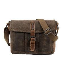Retro Single Belt <b>Men's Leisure</b> Canvas <b>Waterproof</b> Shoulder Bag ...