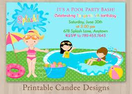 pool party invitation templates printable com printable birthday pool party invitations templates