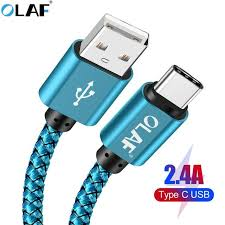 <b>OLAF USB</b>-C <b>USB</b> Type C Cable 3m 2m <b>5v 2.4A</b> Fast Charging ...