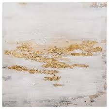 Abstract Gold and White Flecks Painting on Canvas ... - Amazon.com