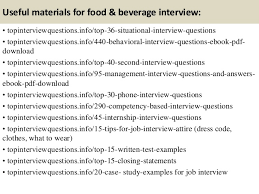 top  food  amp  beverage interview questions and answers