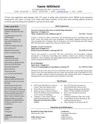 construction superintendent resume examples and samples crew supervisor resume example sample construction resumes