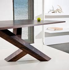 modern wood dining room sets: modern table leg design  modern table leg design