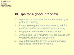 interview techniques workshop 34 10 tips for a good interview