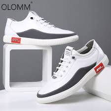 2019 Spring New <b>Casual Breathable Leather</b> Shoes Wild ...