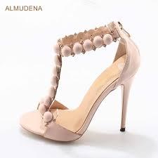 <b>ALMUDENA</b> Designer Shoes <b>Women</b> Summer Button Studded ...