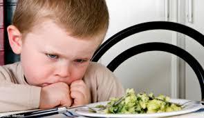 trẻ sợ ăn món mình không thích