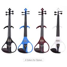 ammoon VE 209 <b>Full Size 4/4 Solid</b> Wood Silent Electric Violin ...