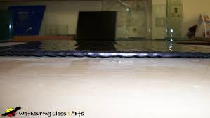 myths of slumped glass wathaurong glass geelong splashback sample tile side view