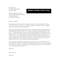 elementary teacher cover letter sample template elementary teacher cover letter sample