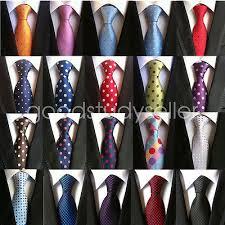 <b>High Quality</b> Mens <b>Wedding Silk</b> Tie Dot Pattern JACQUARD ...