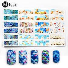 Mtssii <b>12Pcs</b>/Set Nail <b>Art Sticker</b> Mermaid Starfish Sea Beach ...
