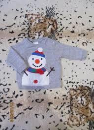 Кофточка реглан со снеговиком 6-12 мес F&F, цена - 30 грн ...