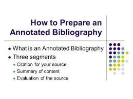 Create a Bibliography   The Research Process   Geier Library at     Stadt  und Bergbaumuseum Freiberg Sample paper of annotated bibliography